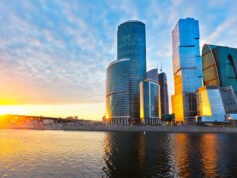 World   Russia Moscow city at sunset   scaled