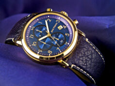 Gold And Blue Watch