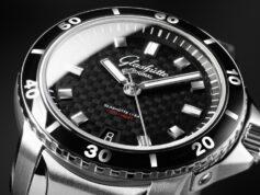 glashutte dial mens wristwatch dark design